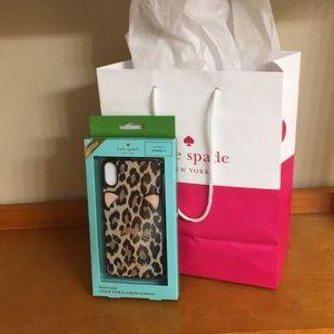 kate spade ♠️ leopard iPhone X  📱 case